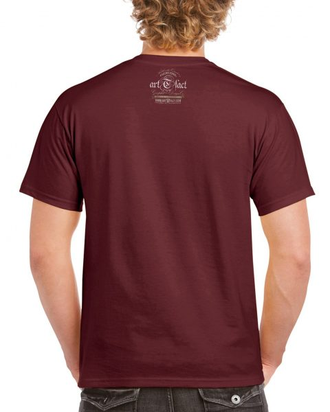 GILDAN2000-CLR ON MAROON BCK